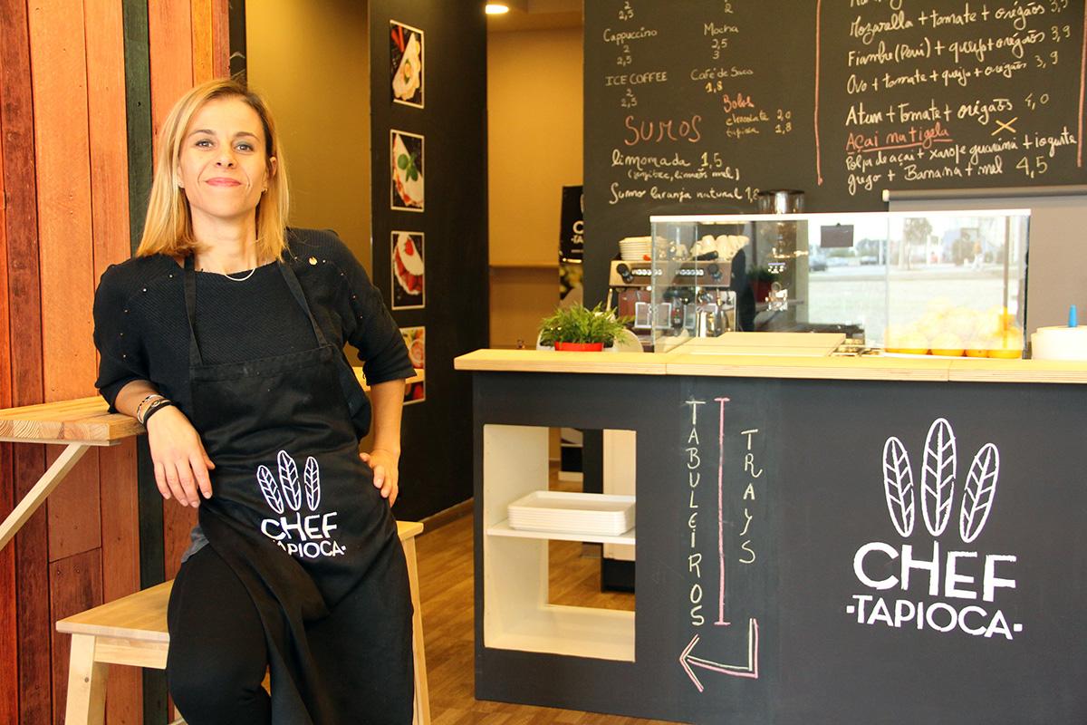 Isadora Fevereiro, na loja de Matosinhos