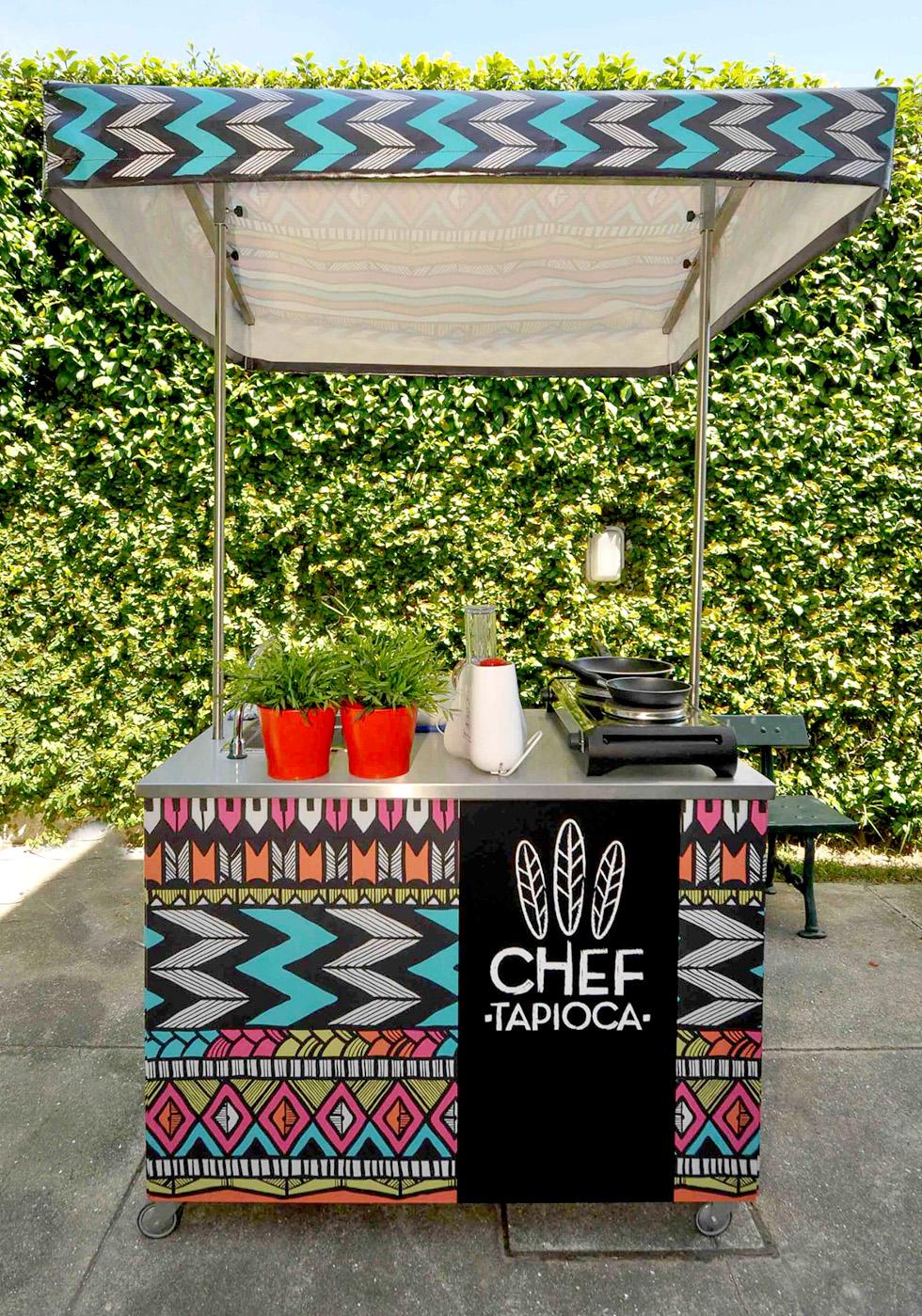 """O """"carrinho"""" do Chef Tapioca"""